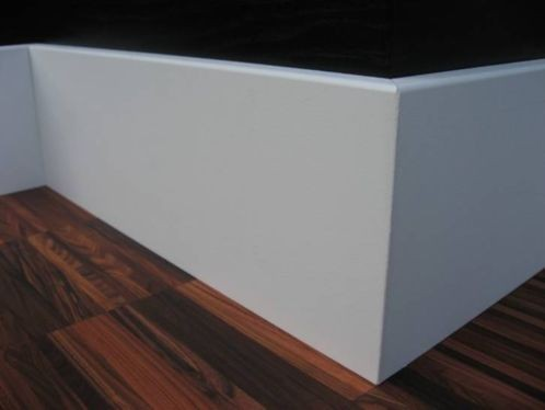 Mdf plint mm robuust recht wit gegrond actielaminaat bv